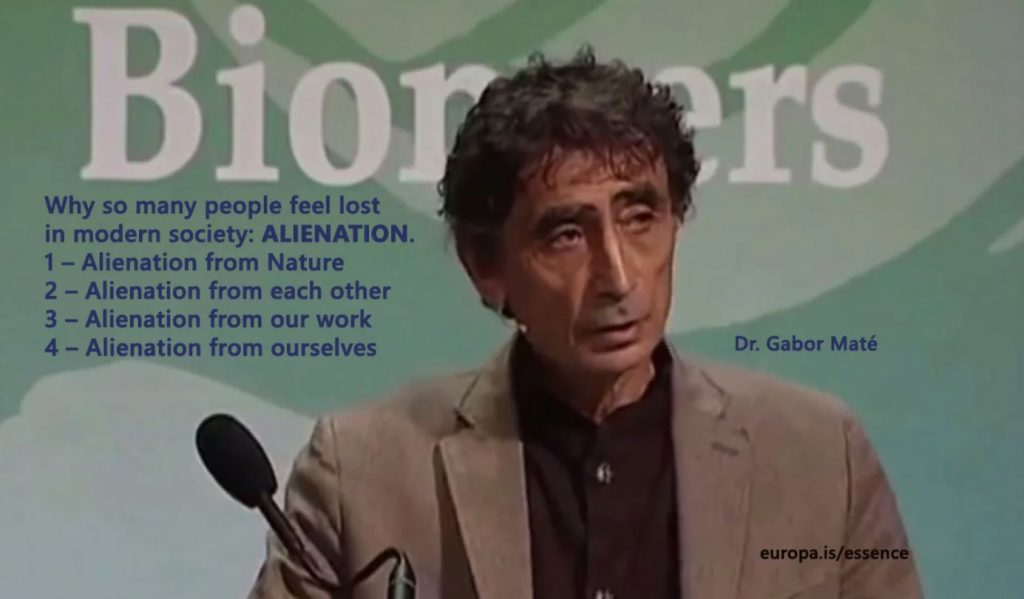 Modern society makes us feel lost – Dr. Gabor Mate