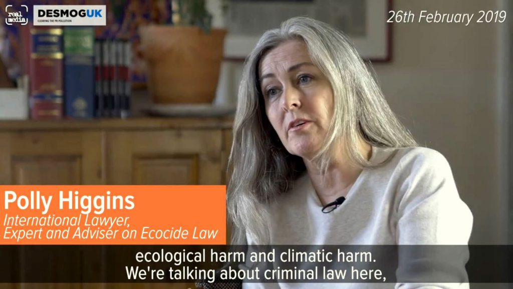 The crime of ecocide – Polly Higgins, StopEcocide (EN►EN/ES/IT/DE/NL)