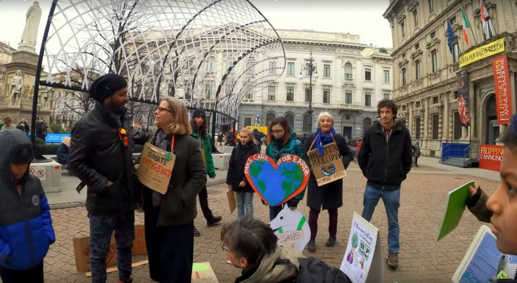 StopEcocide and Fridays For Future in Milano before the corona outbreak | The lost Mumbaikar