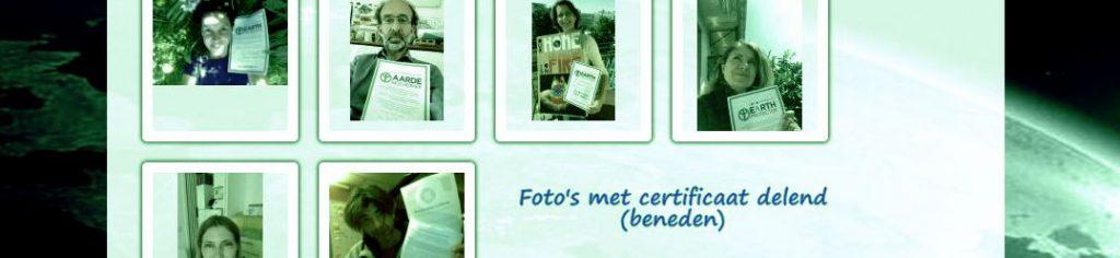 Foto's met certificaat delend :)
