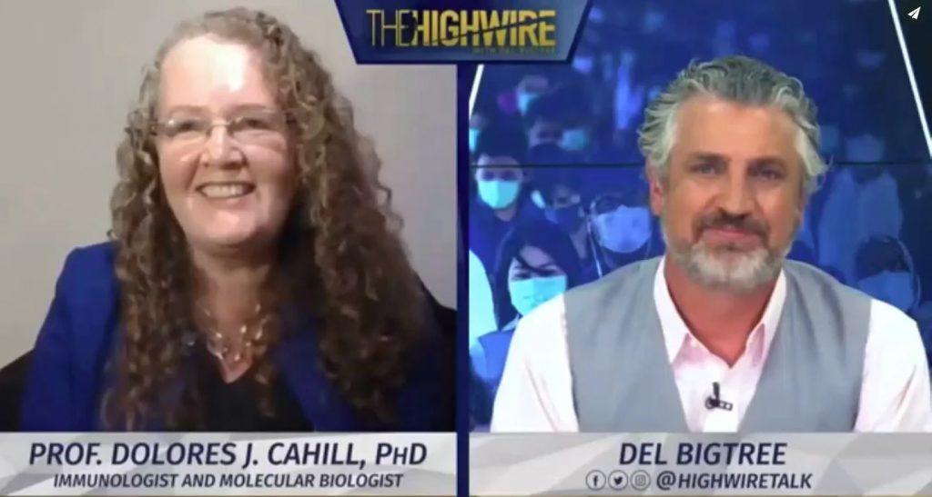 Coronavirus / Covid 19 – geen noodzaak voor maskers of sociale afstand | Prof Dolores Cahill met Del Bigtree