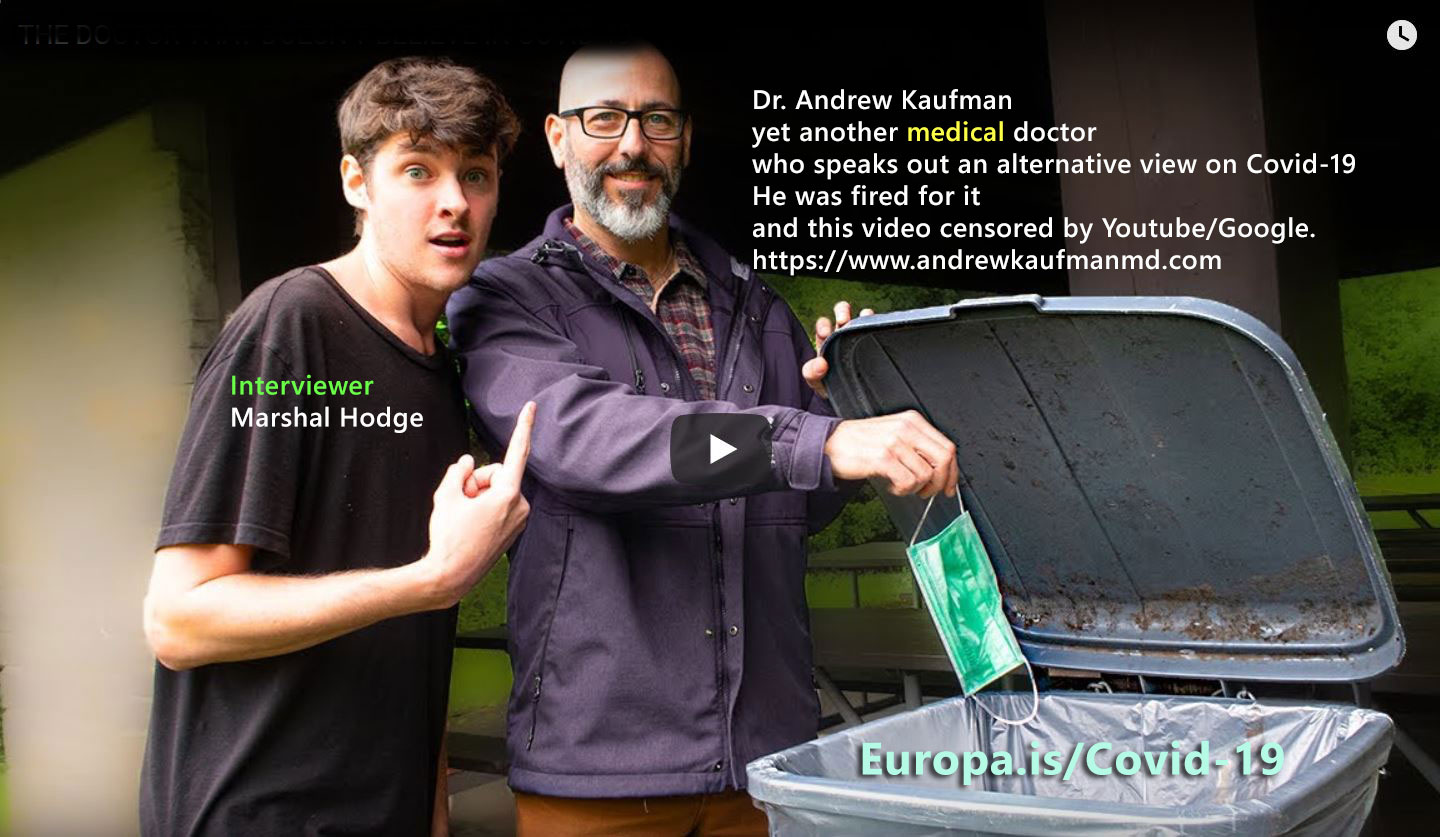 Dr. Andrew Kaufman, yet another MEDICAL Doctor WHO doesn't believe Covid 19