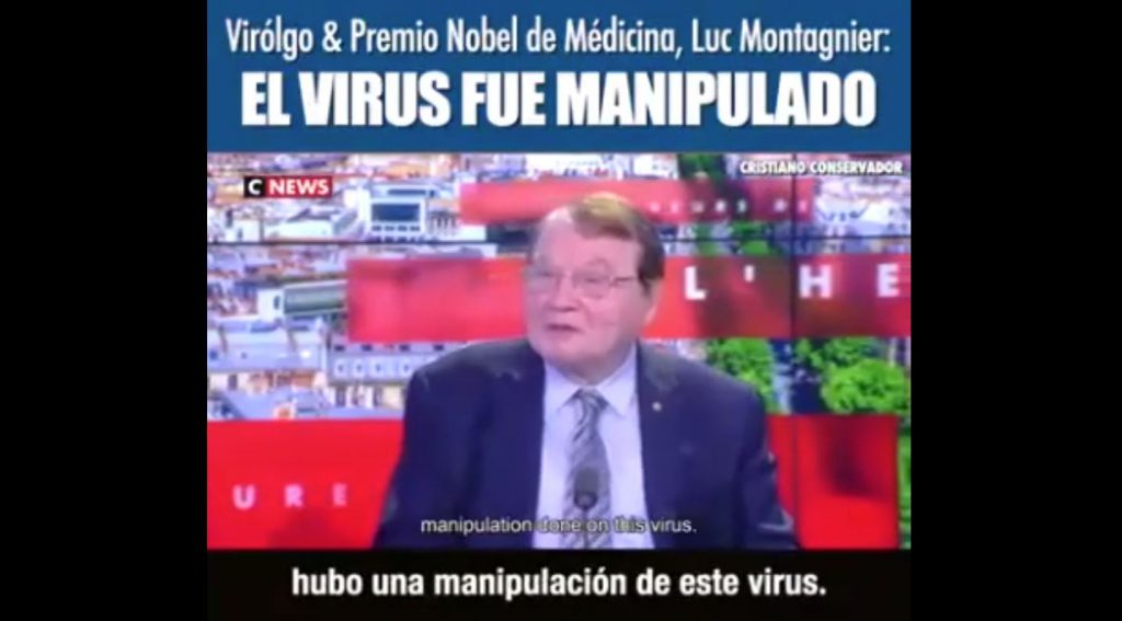 The virus was manipulated – Luc Montagnier Virologist and Nobel 2008