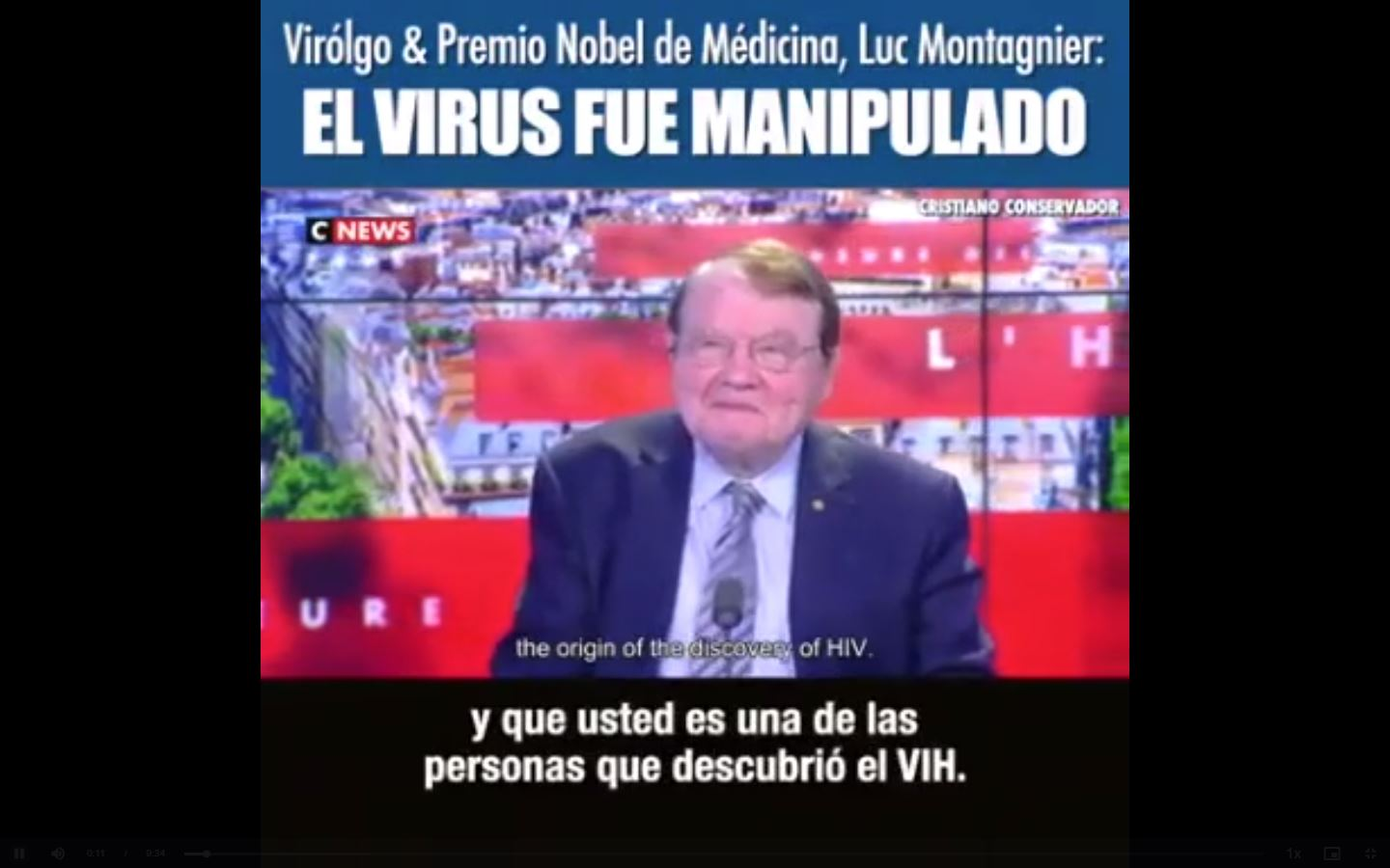 The virus was manipulated