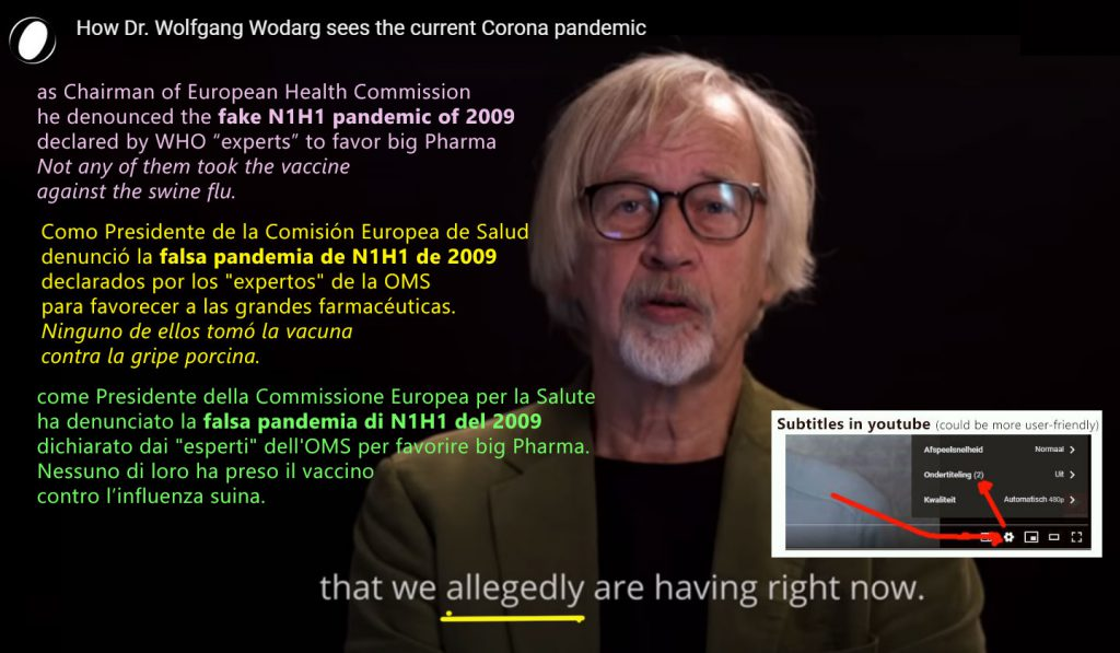 How Dr. Wolfgang Wodarg sees the current Corona pandemic (DE->EN/ES/IT/NL…)