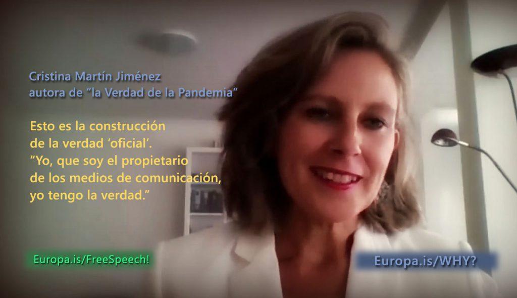 Entrevista revelador a Cristina Martín (investigadora y periodista) sobre la falsa pandemia.
