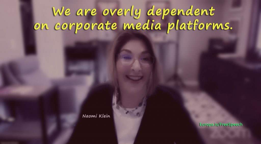 We need independent platforms – Naomi Klein (EN►EN/ES/IT/DE/NL)