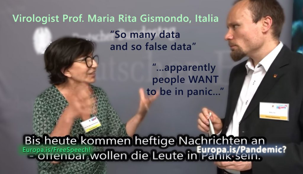 """So many data and so false data."" Virologist Prof. Maria Rita Gismondo (EN->DE)"