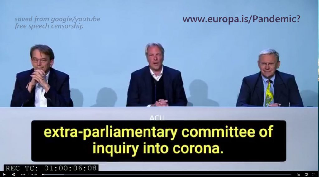 Germany – The COVID-19 Extra-Parliamentary Inquiry Committee – Start Conference 03 July 2020 (DE->EN)