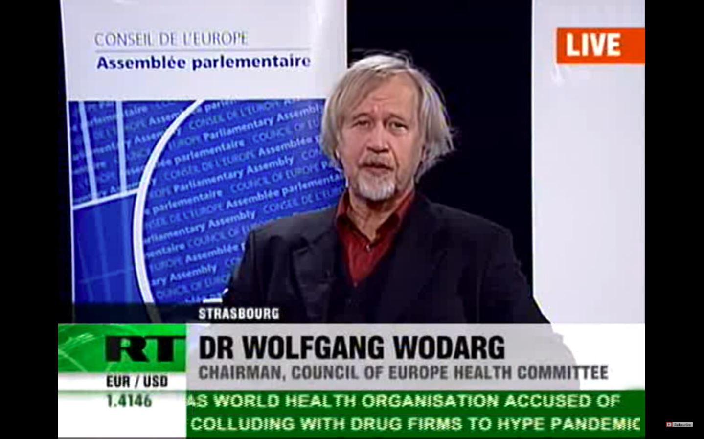 Wolfgang Wodarg: Swine flu, Bird flu 'never happened' - Probe into H1N1  'false pandemic'  