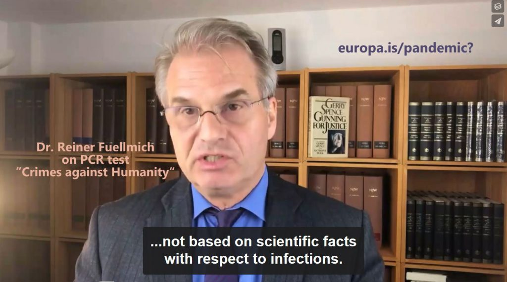 Dr. Reiner Fuellmich – Crimes Against Humanity – the PCR test (EN►EN/ES/IT)