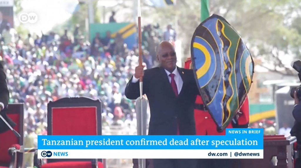 John Magufuli president of Tanzania, critical of PCR and Covid, dies unexpectedly.
