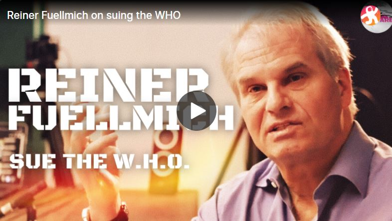 Reiner Fuellmich to sue the WHO (EN)