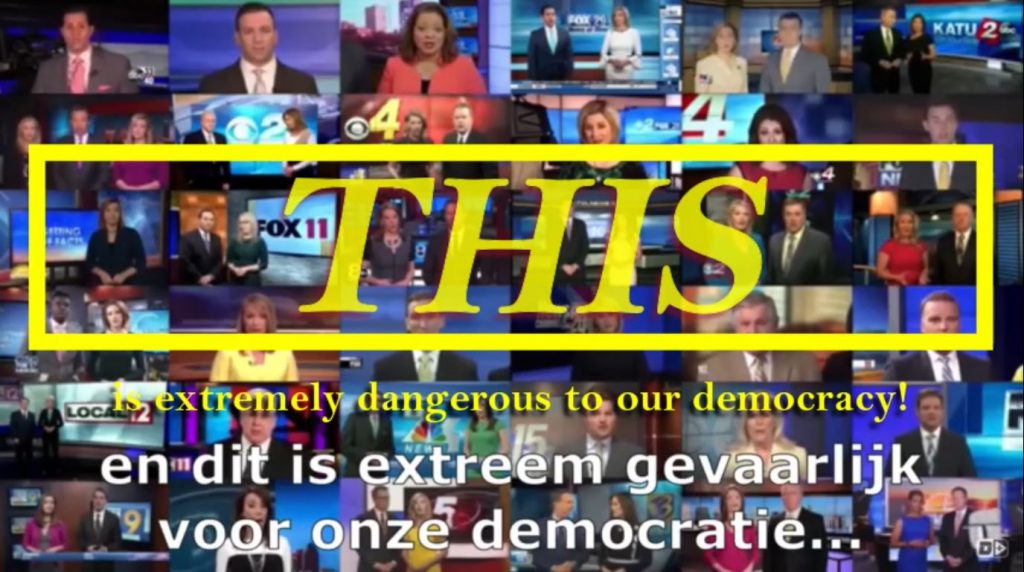 This is extremely dangerous to our democracy. (2 min. clip – EN/NL)