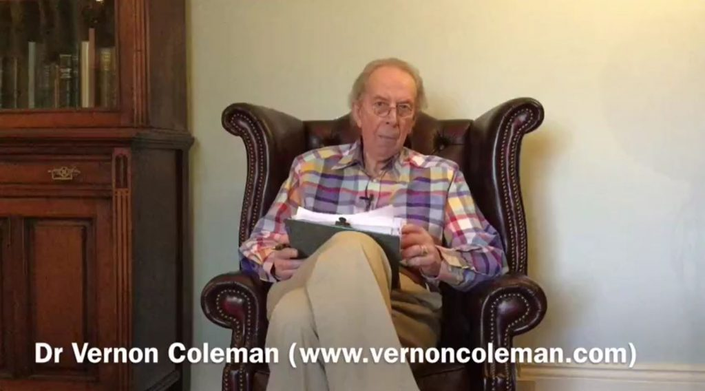 Fuck you all those… Dr. Vernon Coleman cries out.